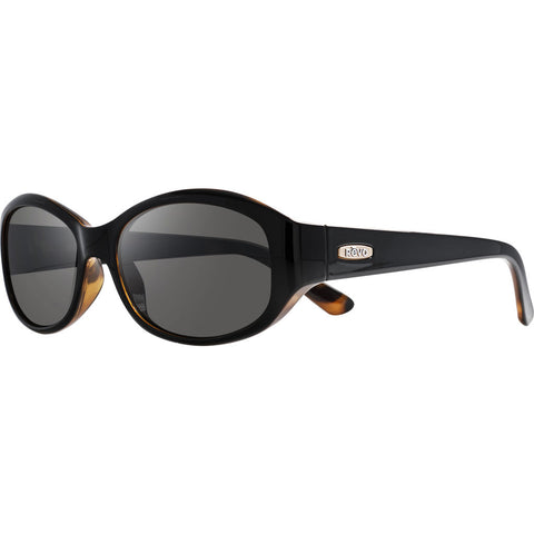 Rēvo Eyewear Allana Black/Honey Tortoise Sunglasses | Graphite