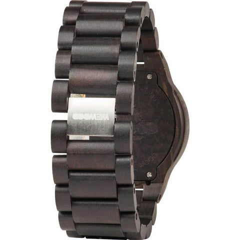 WeWood Alpha Blackwood Wood Watch | Black/Gold