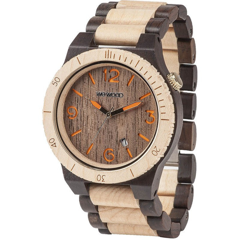 WeWood Alpha Wood Watch | Chocolate/Beige