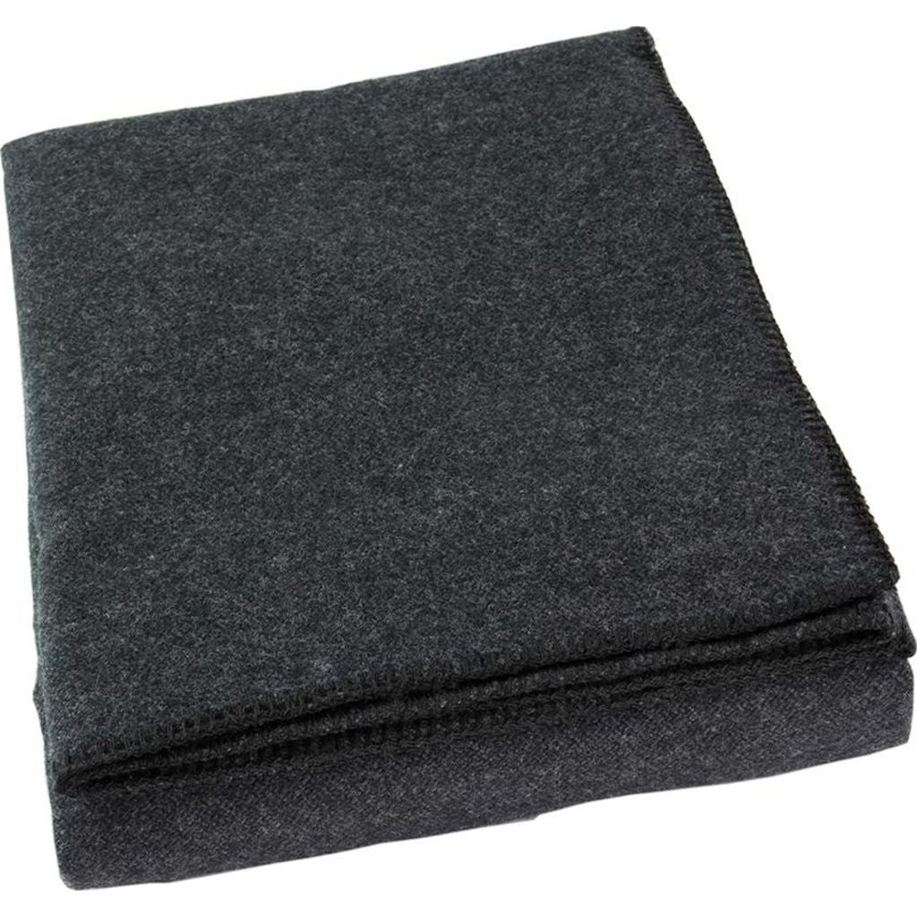 Faribault Pure & Simple Alpine Wool Blanket -Twin --Heather Gray B3RCGY1387