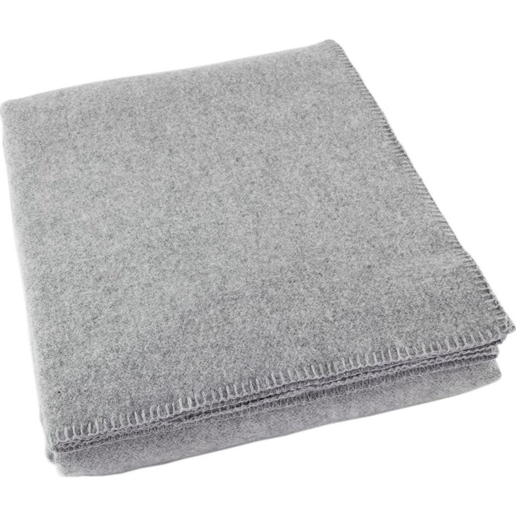 Faribault Pure & Simple Alpine Wool Blanket -Queen --Heather Gray B2RCGY1349