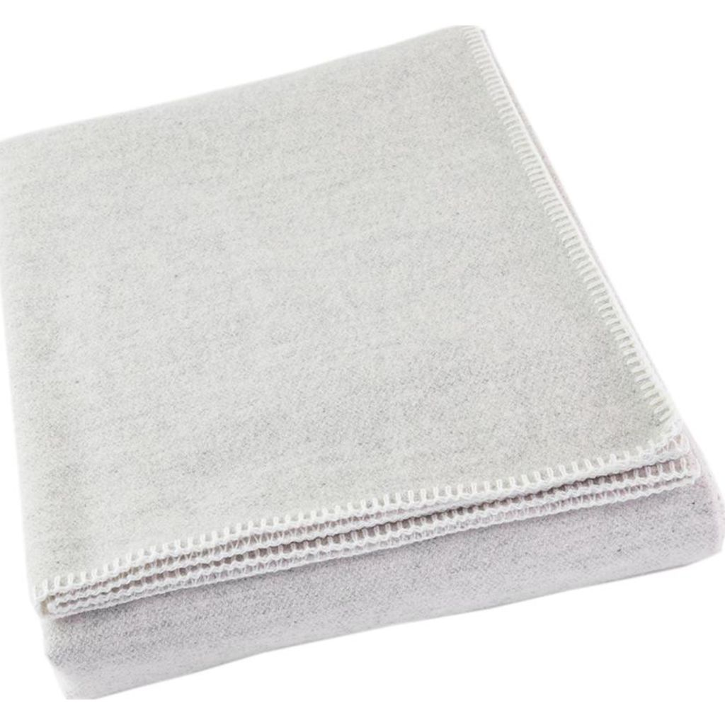 Faribault Pure & Simple Alpine Wool Blanket -Twin --Natural B3RCNA1370