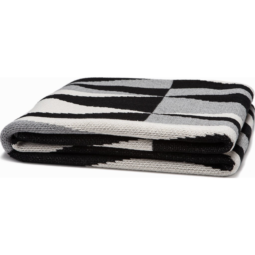 in2green Right Angles Eco Throw | Black/Aluminum BL01AG1