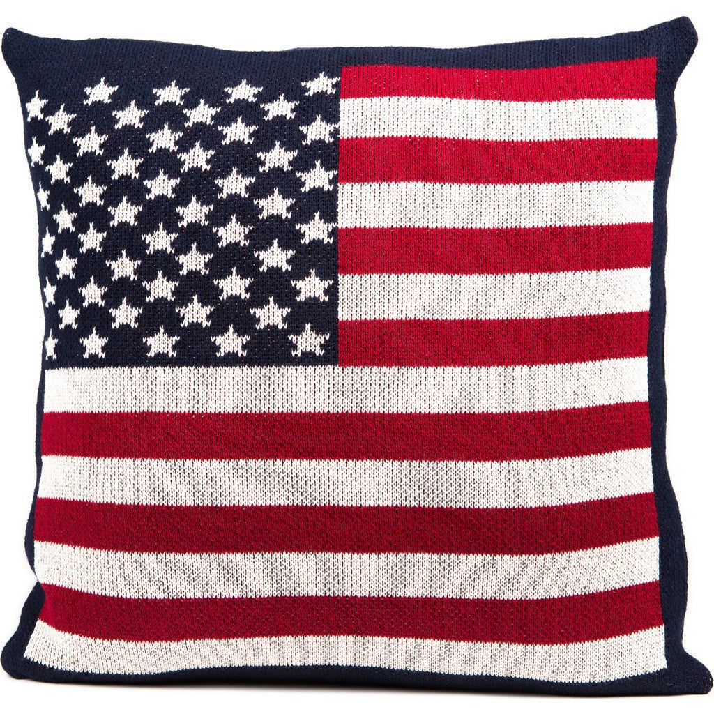 in2green American Flag Eco Pillow | Red/White/Blue PL18AF1