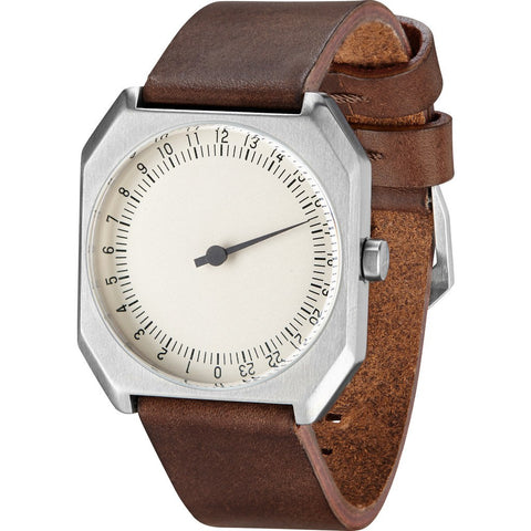 slow Jo 17 Créme Watch | Brown Vintage Leather X000JADHEN