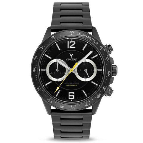 Vincero Men's Apex Sport Black Watch | Matte Gray Strap Mgr-Bla-P07