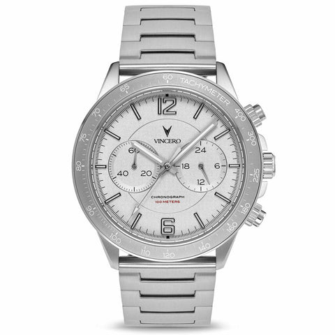Vincero Men's Apex Sport Smoke Grey Watch | Stainless Steel Strap Pew-Smo-P02