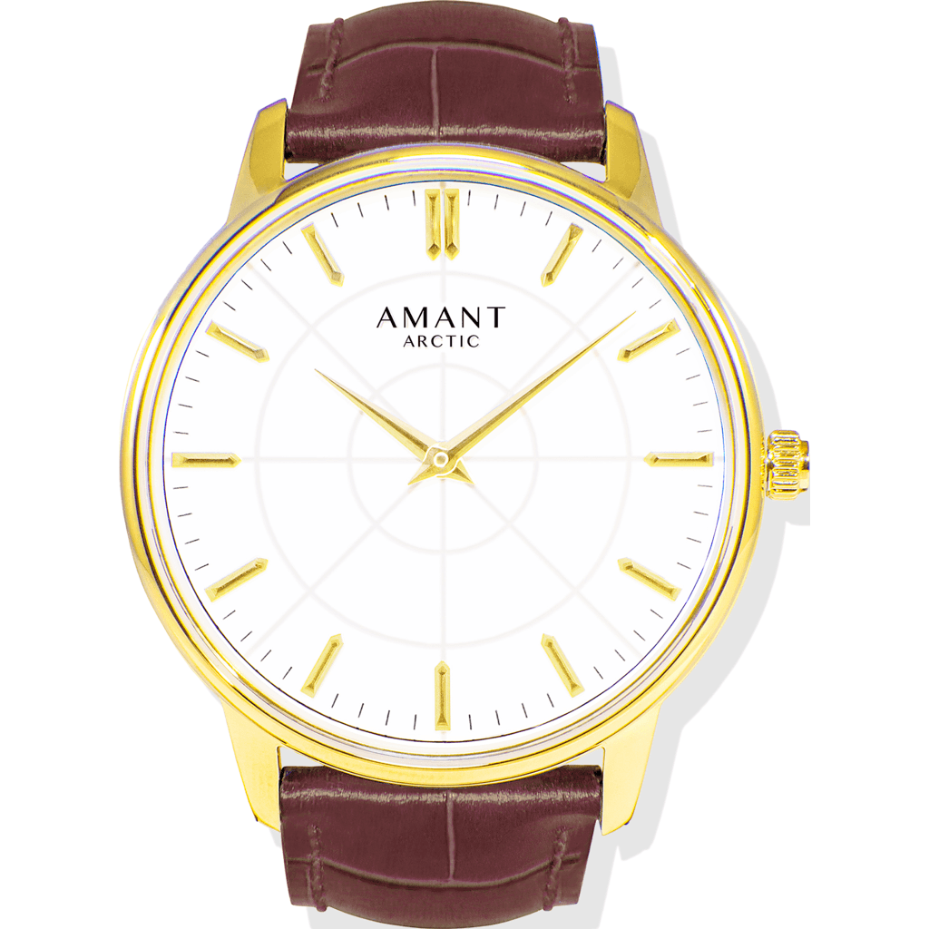 AMANT Arctic Gold Watch | Sienna Brown