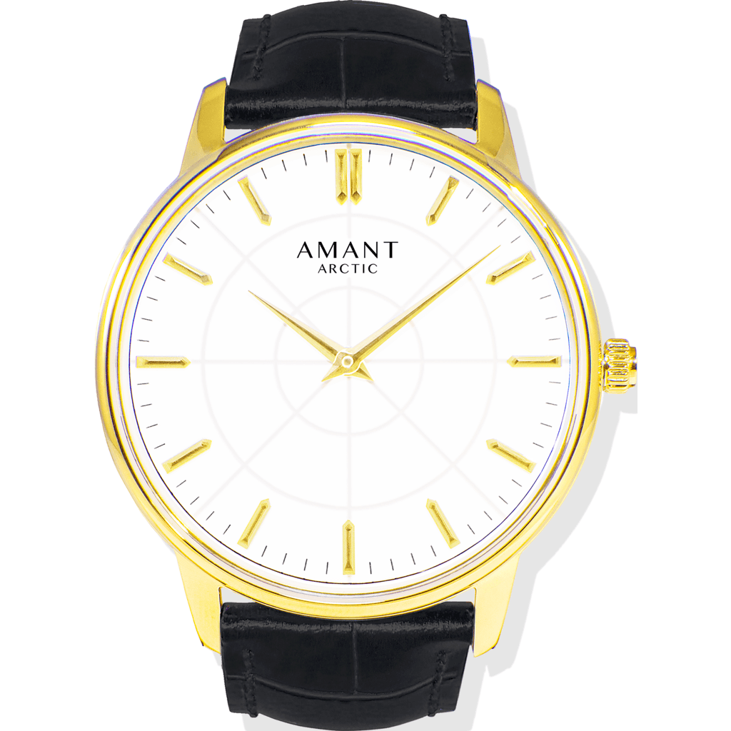 AMANT Arctic Gold Watch | Black