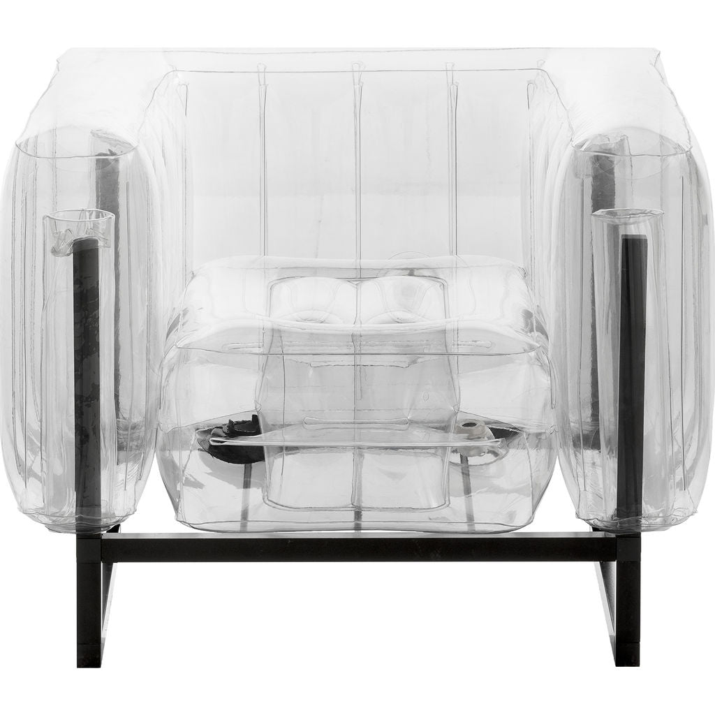 Mojow Yomi Inflatable Armchair | Clear + Black Frame FYCN01TR