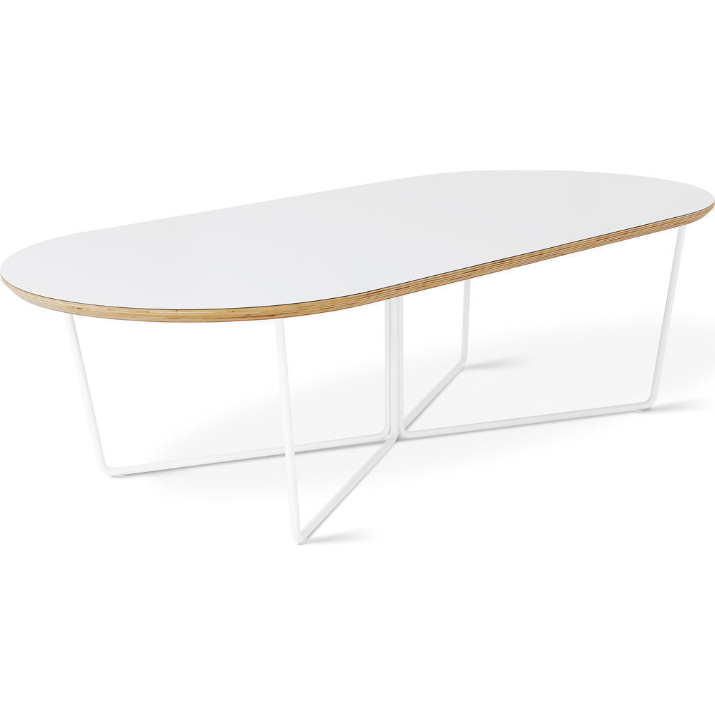 Gus* Modern Array Oval Coffee Table | White ECCTARRO-wp