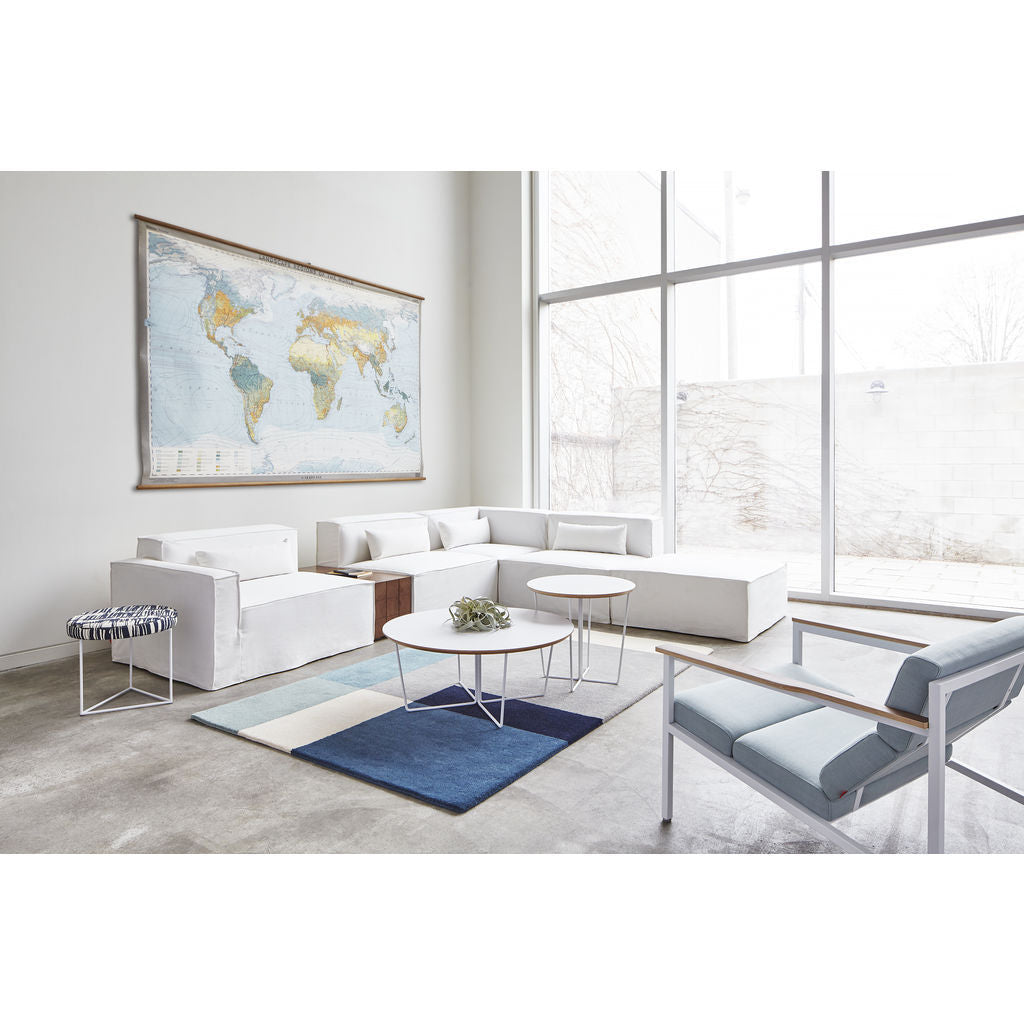 Gus Modern Array Round Coffee Table White Sportique