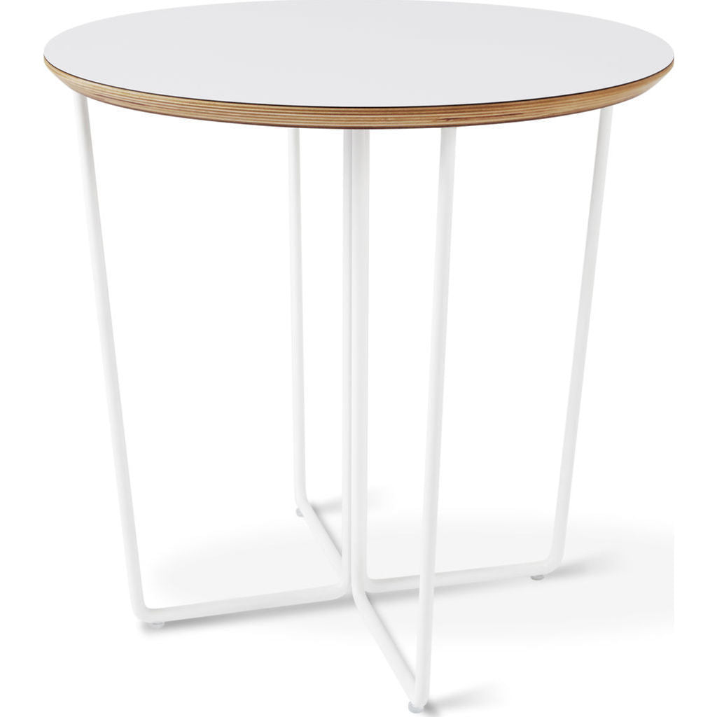 Gus* Modern Array Round End Table | White ECETARRR-wp