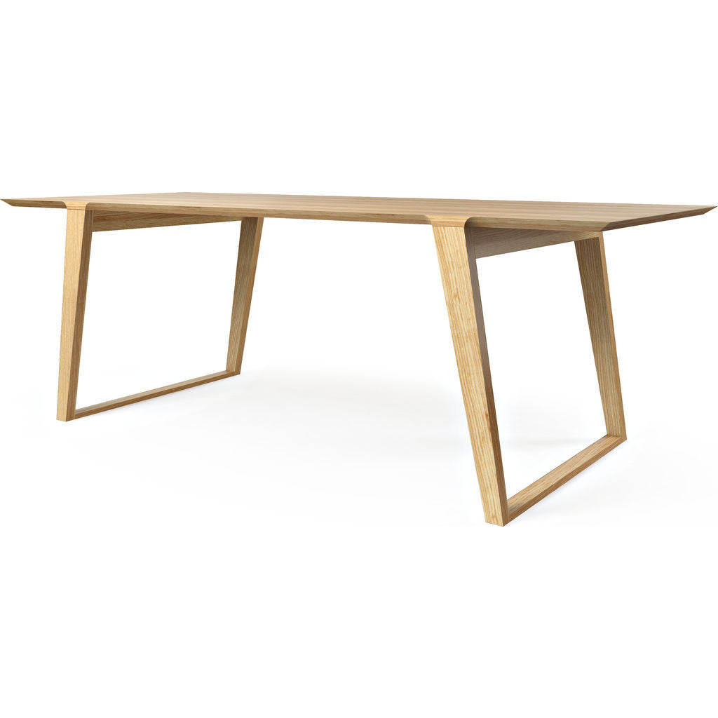 Kalon Isometric Medium Wood Table | Ash