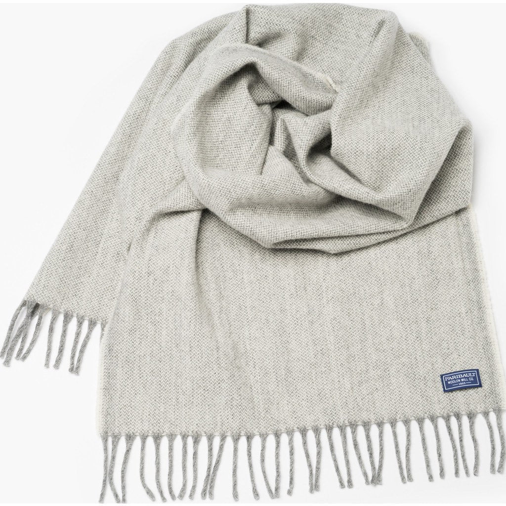 Faribault Ashby Twill Wool Scarf | Natural 16897 16x72
