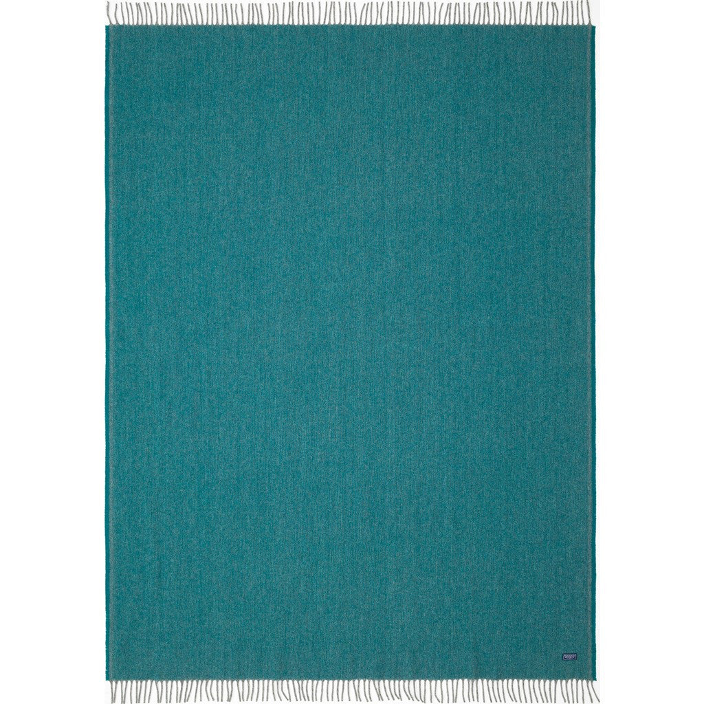 Faribault Ashby Twill Wool Throw | Spruce 16576 50x72