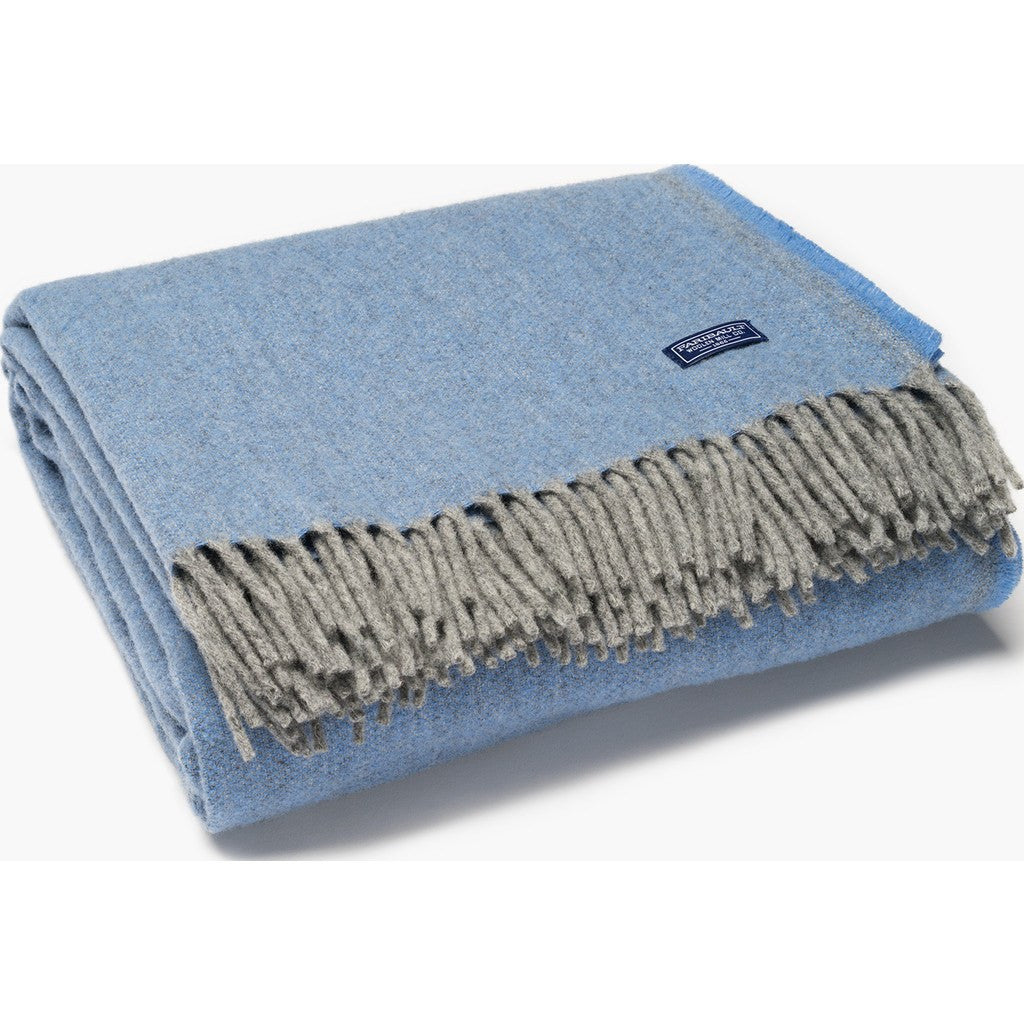Faribault Ashby Twill Wool Throw | Wedgewood 16583 50x72