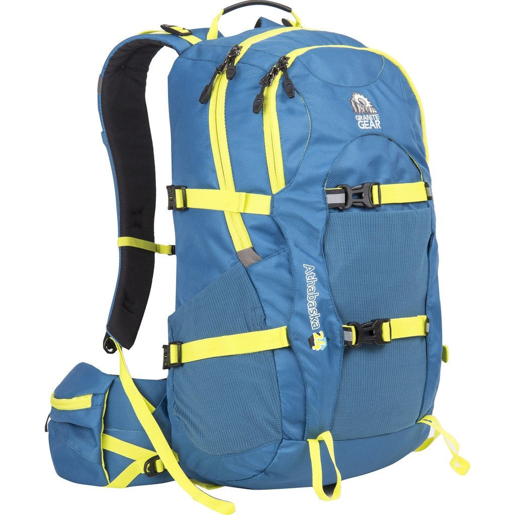 Granite Gear Athabasca 24 Technical Day Pack | Bleumine/Neolime 613200-5003