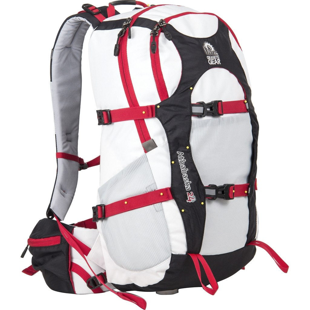 Granite Gear Athabasca 24 Technical Day Pack | White/Black/Tamarillo 613200-2001