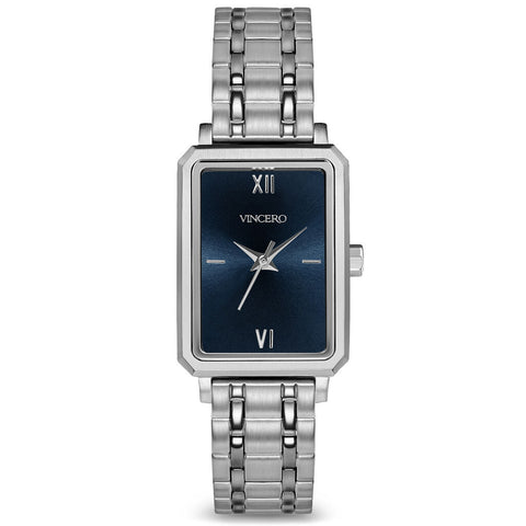 Vincero Women's Ava Petite Quartz Turkish Blue Watch | Brushed Silver Metal Strap