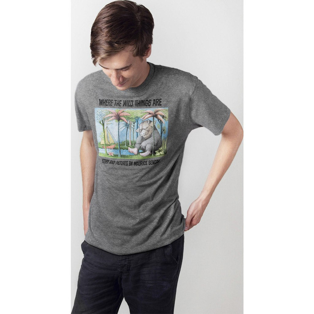 Out of Print Where the Wild Things Are Men's T-Shirt | Heather Gray B-1101