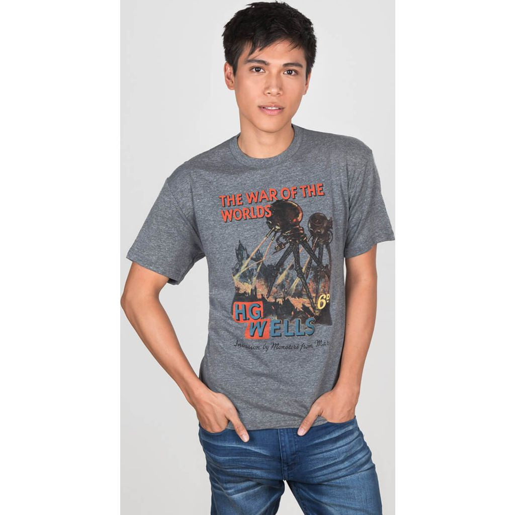 Out of Print The War of the Worlds Men's T-Shirt | Gray B-1129-03