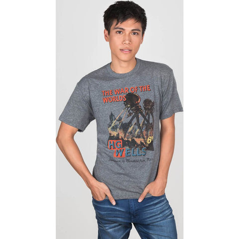 Out of Print The War of the Worlds Men's T-Shirt | Gray B-1129-02