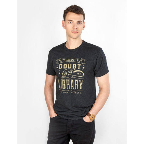 Out of Print When in Doubt T-Shirt | Vintage Black