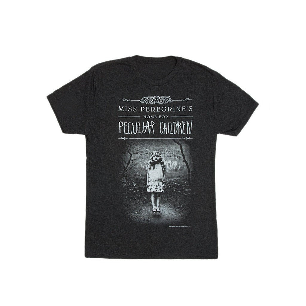 Out of Print Miss Peregrine's Home for Peculiar Children T-Shirt | Vintage Black