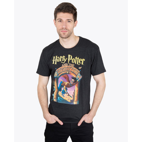 Out of Print Harry Potter and the Sorcerer's Stone Men's T-Shirt | Black Medium B-1208