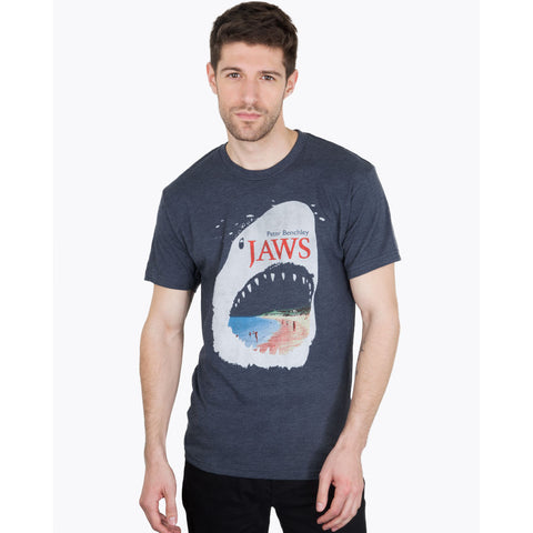 Out of Print Jaws Men's T-Shirt | Blue Small B-1029