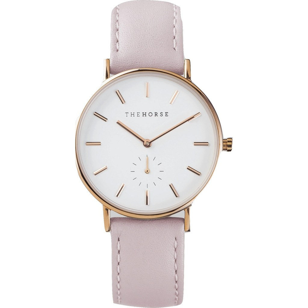 The Horse Classic Rose Gold Watch Baby Pink Sportique