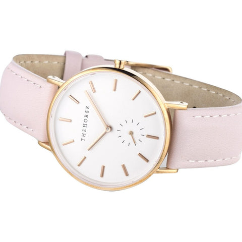 The Horse Classic Rose Gold Watch | Baby Pink