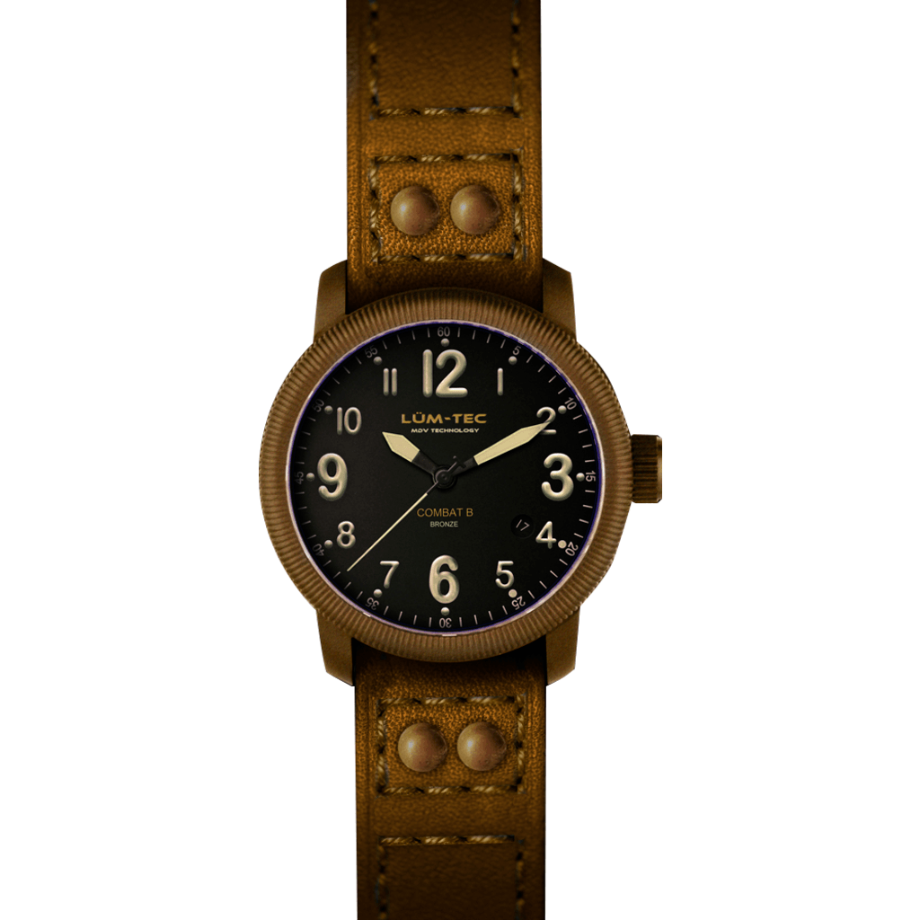 Lum-Tec B18 Bronze Watch | Leather Strap