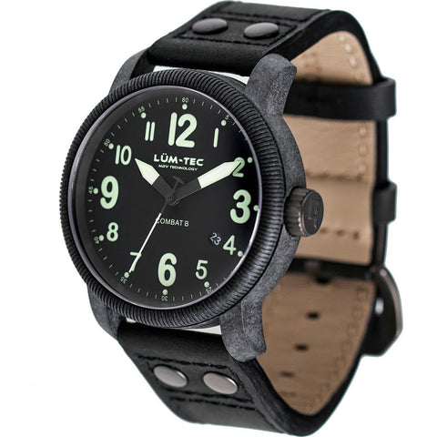 Lum-Tec B23 Carbon Watch | Leather Strap