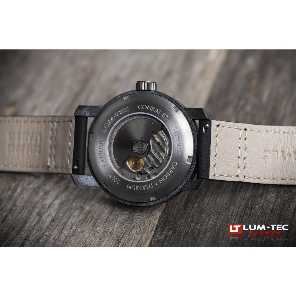 Lum-Tec B24 Carbon Watch | Leather Strap