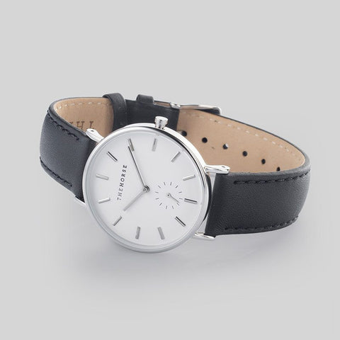 The Horse Classic Silver Watch | Black B2
