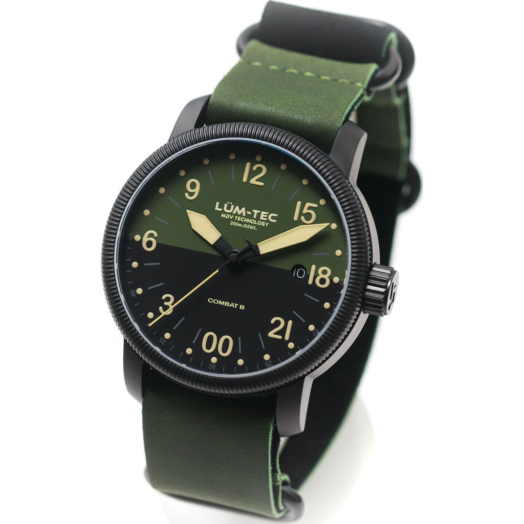Lum-Tec B37 24 Hour Watch | Leather Strap