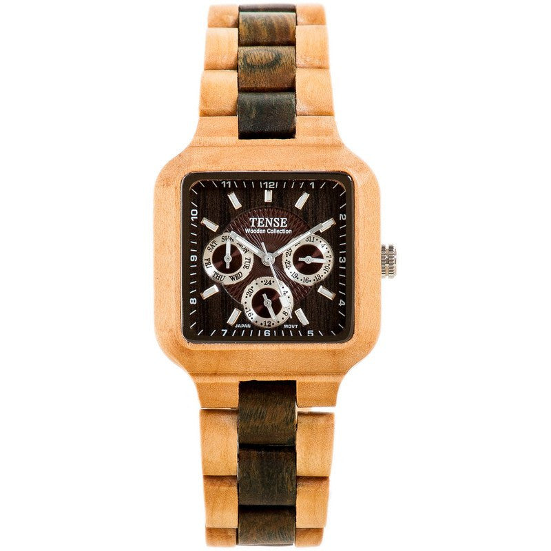 Tense Summit Adventure Men's Watch Maplewood/Green Sandalwood | B7305MG