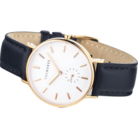 The Horse Classic Rose Gold Watch | Black