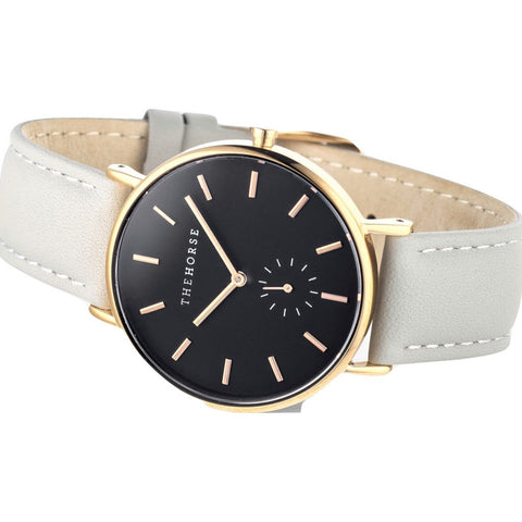 The Horse Classic Rose Gold Watch | Grey