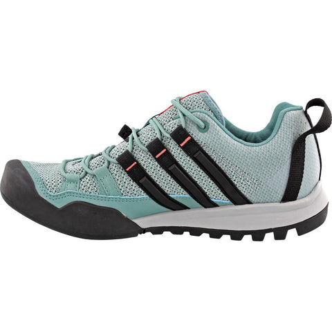 Adidas Women's Terrex Solo W Running Shoes | Clear Onix/Vapour Steel/Black BB6022