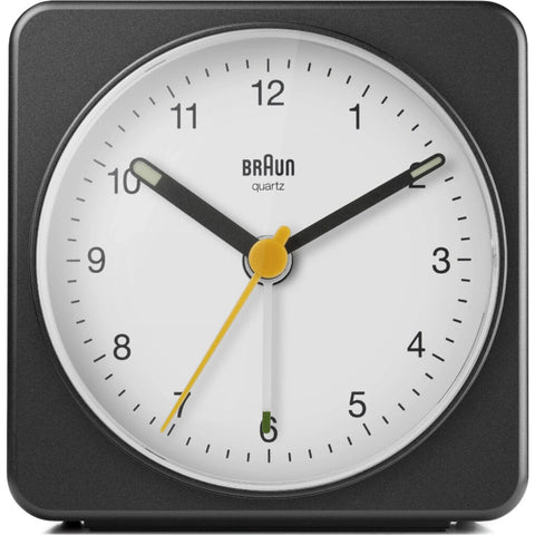 Braun BC03 Large Travel Alarm Clock | Black & White