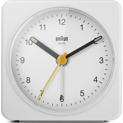 Braun BC03 Large Travel Alarm Clock | White