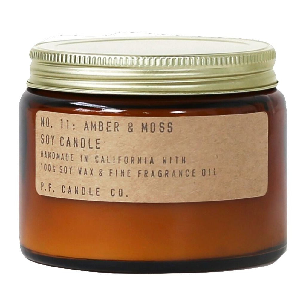 P.F. Candle Co. Double Wick Candle | Amber & Moss 14 oz BC11