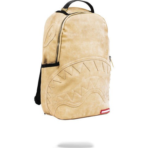 Sprayground Leather C&S Backpack | Beige