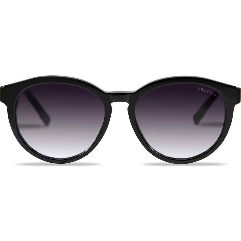 Velvet Eyewear Bella Black Sunglasses | Grey Fade V014BK05
