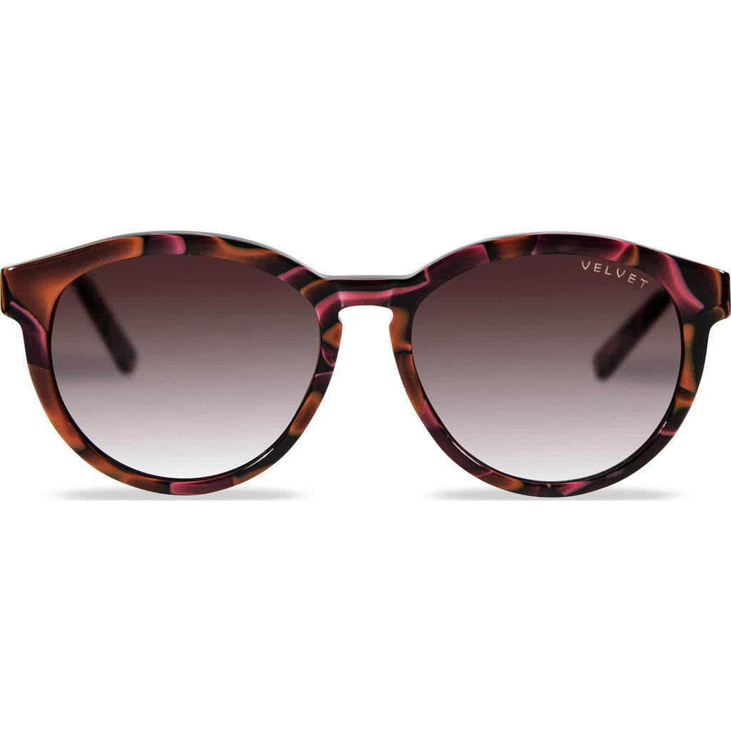 Velvet Eyewear Bella Red Lava Sunglasses | Brown Fade V014RL01