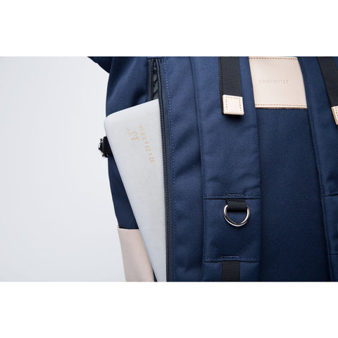 Sandqvist Bernt Backpack | Multi Beige/Blue
