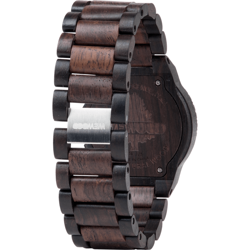 WeWood Beta Blackwood/Rosewood Watch | Black/Chocolate